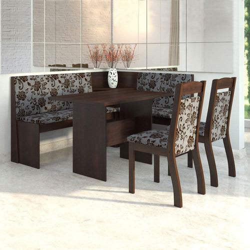canto alemão tango sala de jantar e 2 - mobilarte móveis