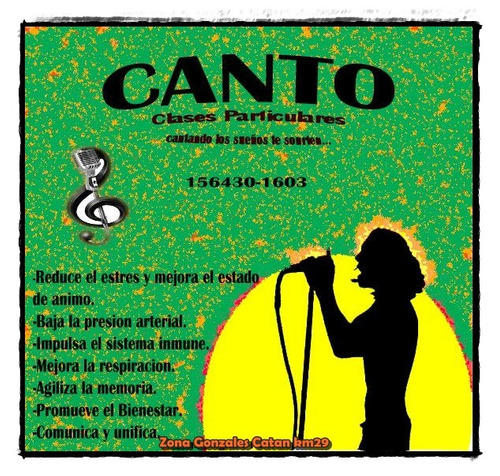 canto. clases particulares
