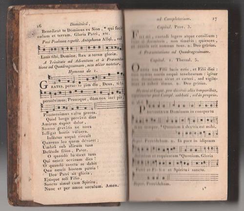 canto gregoriano antiphonarium - 1835 - breviário em latim