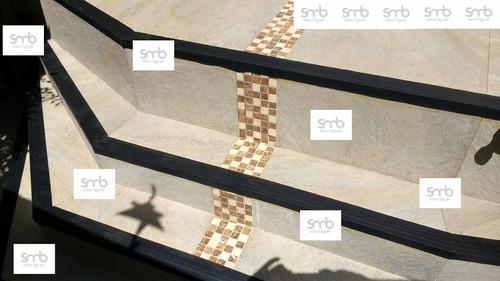 cantoneira borracha para escada - fabrica - piso pastilhado