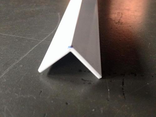 cantoneira de alu.branca 3/4'x1/16 pol.x1,00mt (19mmx1,52mm)