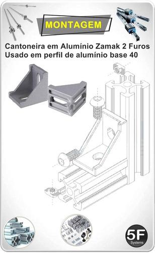 cantoneira em alumínio zamak  40x40 pack  12 peças