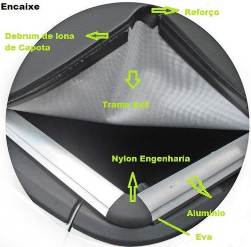 cantoneira nylon p/capota prudentina mod. encaixe(2 pç)pc187