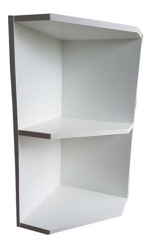 cantoneira p/ armário de cozinha em mdf branco - marcenaria