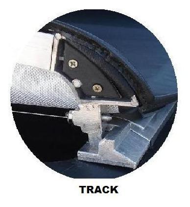 cantoneira track alumínio par lado esquerda - prudentina
