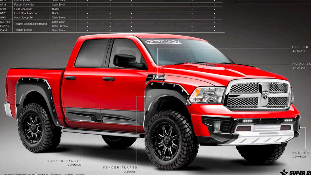 Cantoneras Off Road Airdesign Dodge Ram 2013 17 10 499