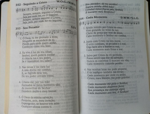 cantor cristão letra grande 14x21 - preta - frete grátis br