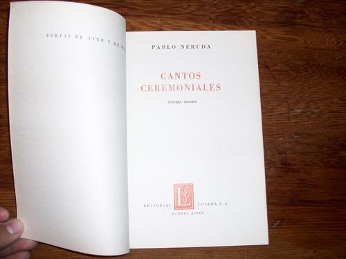 cantos ceremoniales   pablo neruda