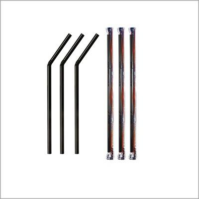 canudo preto flexível em sachê 100 unidades tradicional