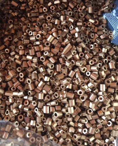 canutillo dorado opaco de 3 mm por 200 gr  (b5)