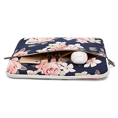 canvaslife funda para laptop white rose patten bolsa para po