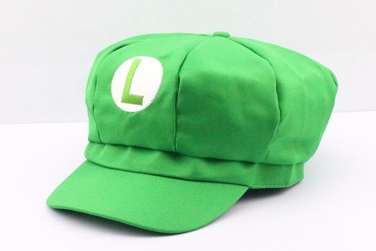 9359e5e6b52ee Cap Super Mario Bros Verde Luigi Boina Bordado Cosplay - R  27