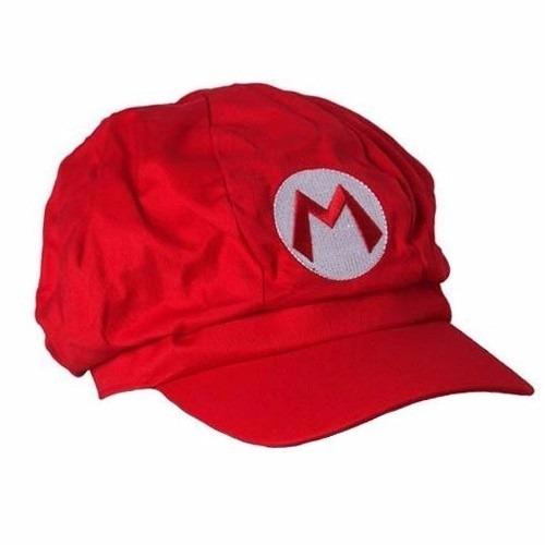 Cap Super Mario Bros Vermelho Mario Boina Bordado Cosplay - R  29 e7fb148395e