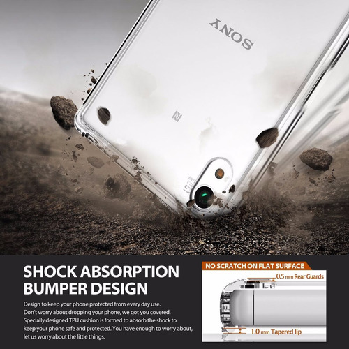 capa 100% original ringke fusion p/ sony xperia z5 / dual