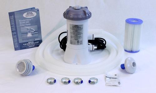 capa 2,44 m + forro + kit de limpeza + bomba filtrante 2006
