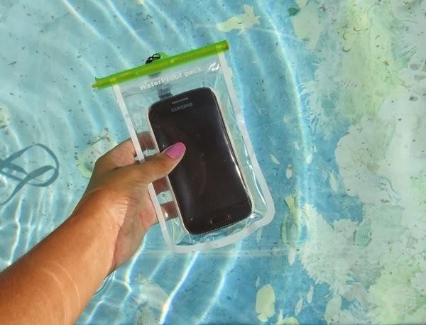 Tirar fotos embaixo da água