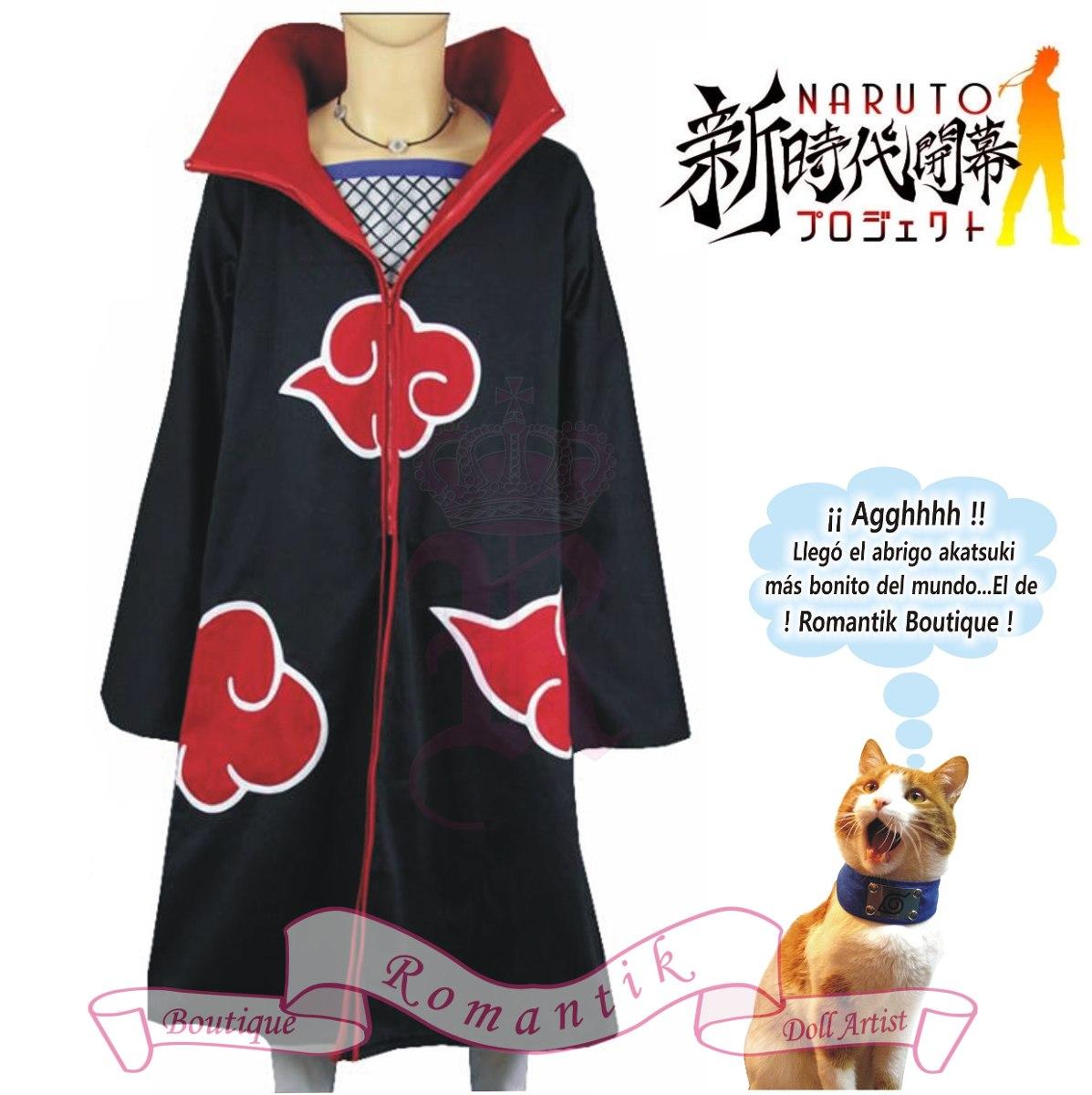 Capa Abrigo Akatsuki Itachi Cosplay Disfraces Anime Naruto ... cf77388d0d11