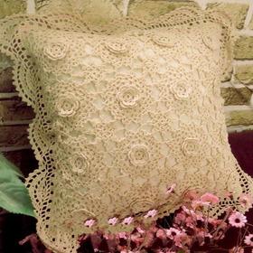 Capa Almofada De Croche