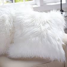 f1b60c4c4e1546 Capa Almofada Pelúcia Pelo Alto Peludinha Branca Luxo