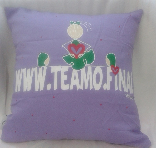capa almofada teamo.com - lilás