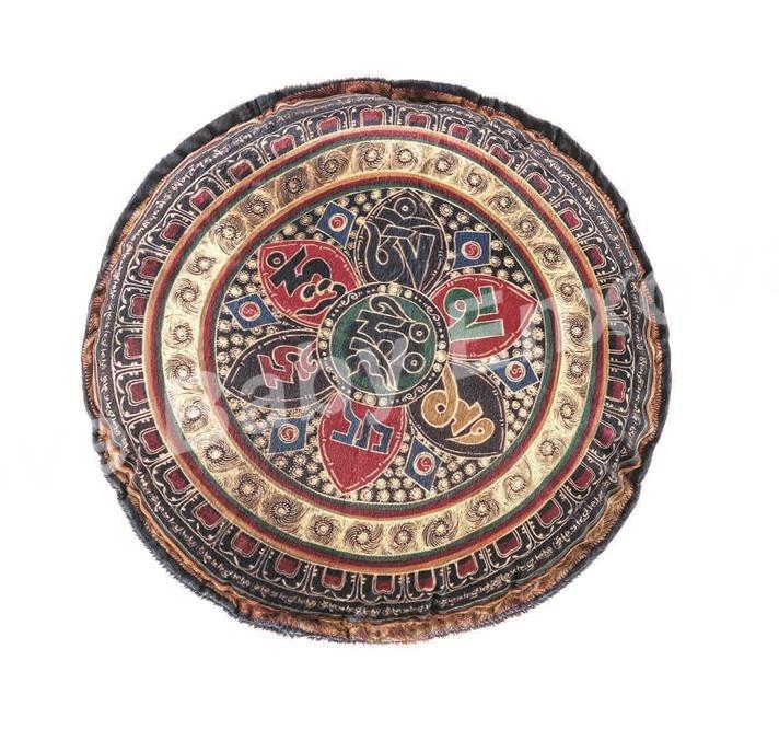 Artesanato Tecido Patchwork ~ Capa Almofadas Mandalas Redonda Tecido Toque Aveludado R$ 32,99 em Mercado Livre