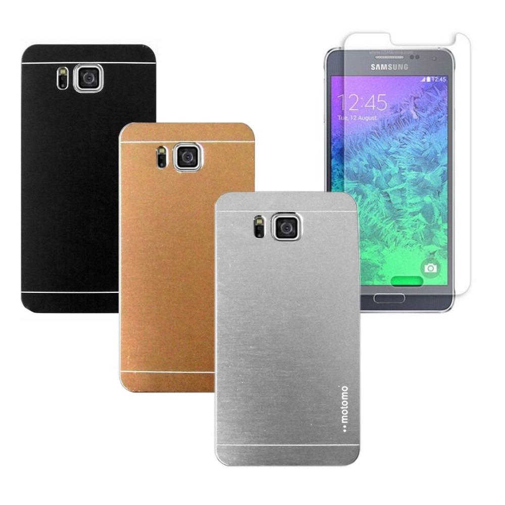 Capa Aluminio Escovado Samsung Galaxy Alpha G850 Pelcula R 4699 Carregando Zoom