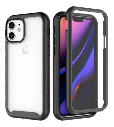 capa anti-impacto 360º para apple iphone 11 - preta hmaston