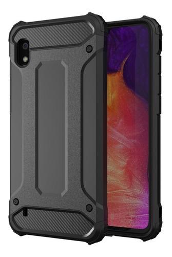 capa anti impacto samsung galaxy a10+pelicula de vidro 3d