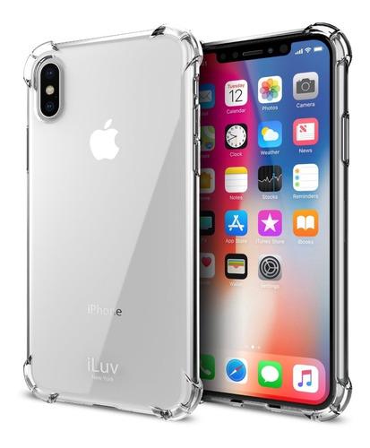 capa anti impacto todos iphones + 2 películas gel + fibra fg