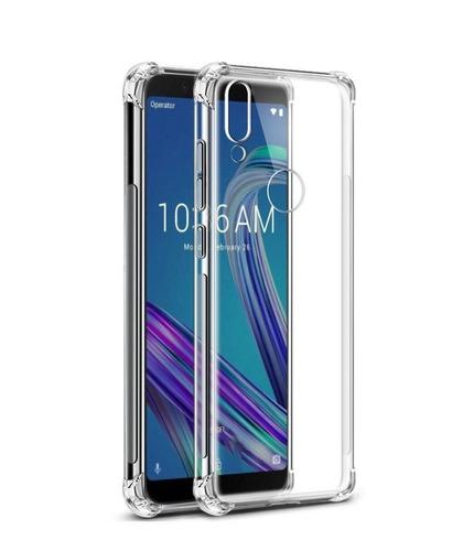 capa anti impacto zenfone max pro m1 + película de vidro