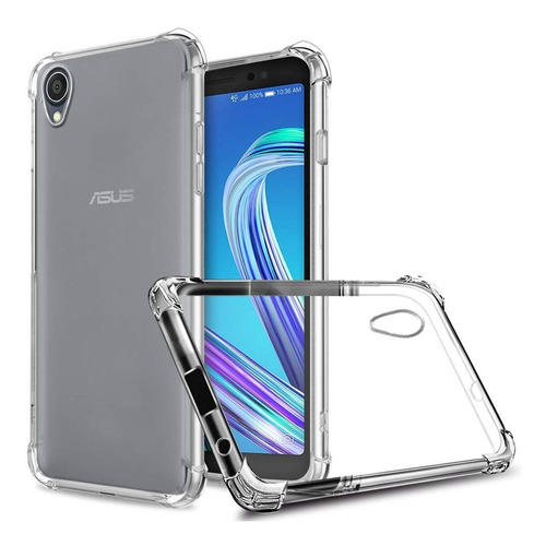 capa anti shock e pelicula de vidro zenfone live l1 za550kl