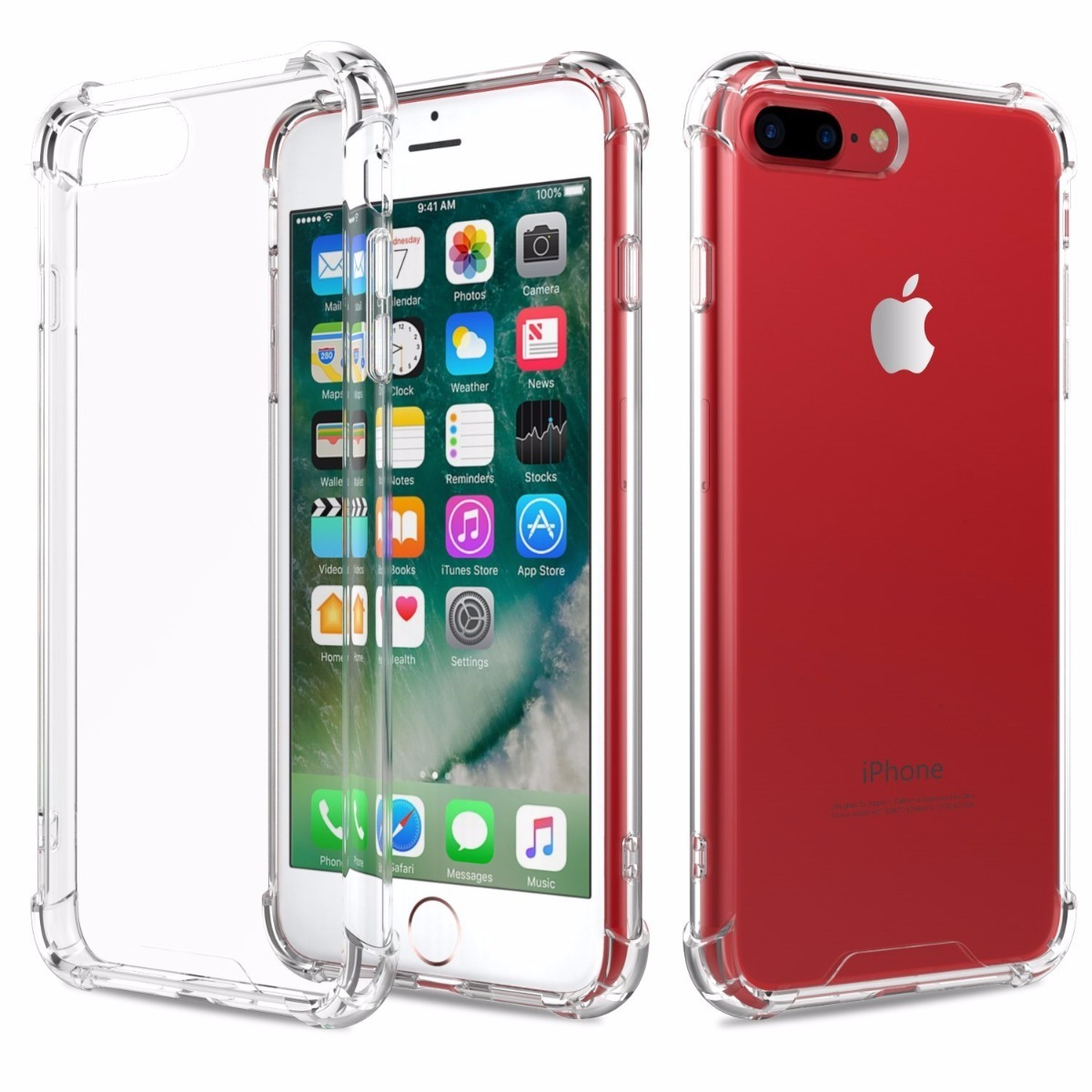 Capa Anti Shock Iphone 8 Plus Pelicula De Vidro Tela