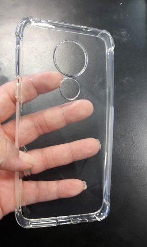 capa anti shock moto g7 play transparente + película 5d