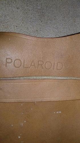 capa antiga de couro para câmera polaroid antiga