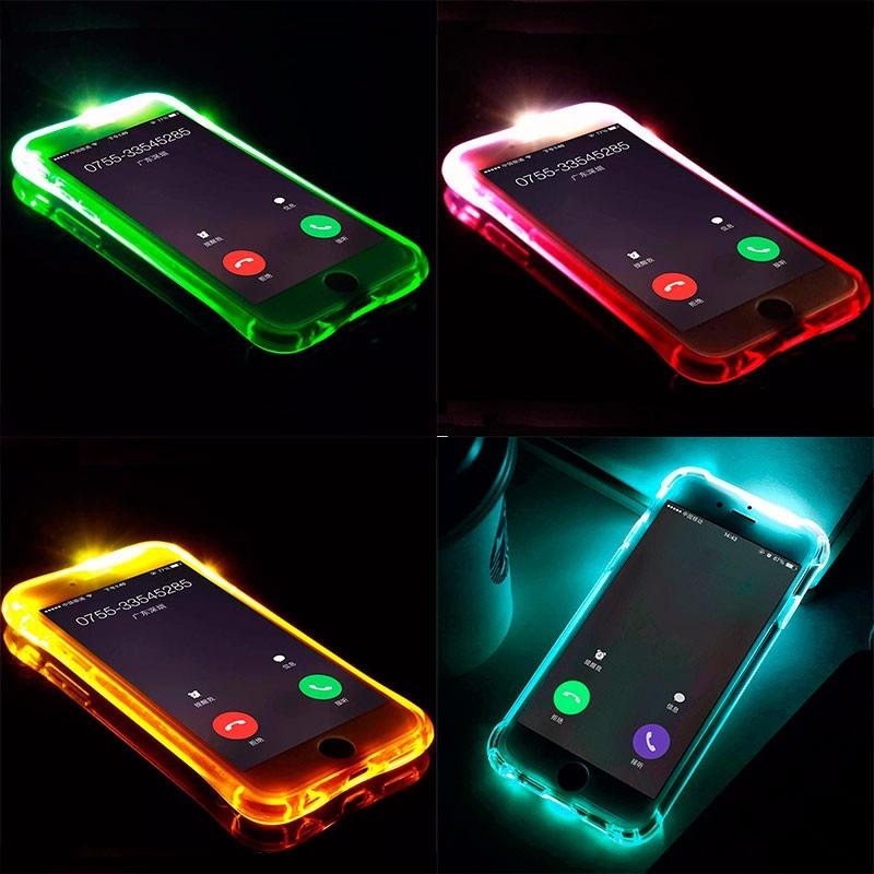 online store be9c3 30380 Capa Antishock Led iPhone 5 5s 5se 6 6s Plus 7 7 8 Plus