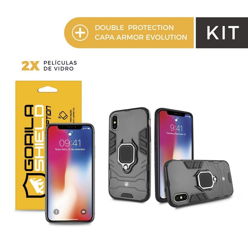 8ce1e70214b4e capa armor evolution + película vidro iphone x e xs gorila. Carregando zoom.