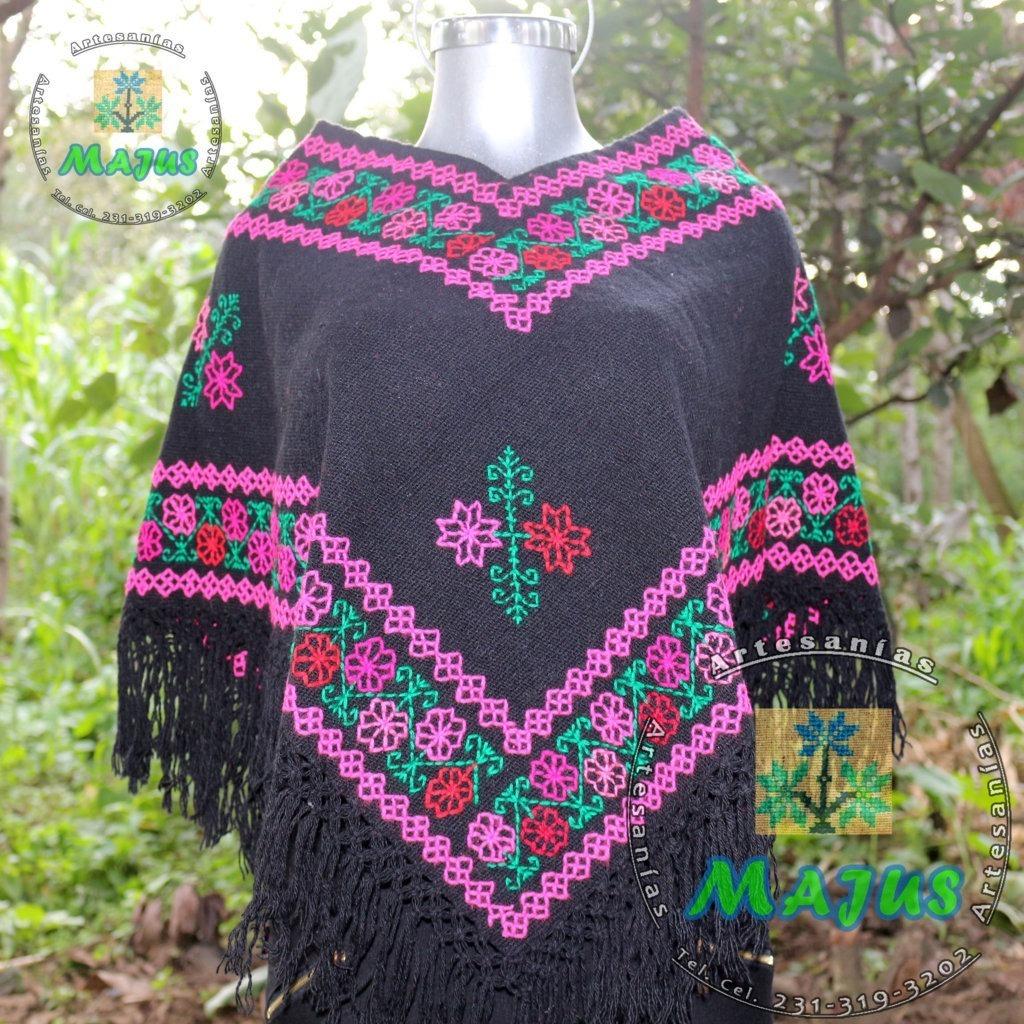 e309b837f Patrn de Poncho en L Crochet Capas Ponchos yMas Gola