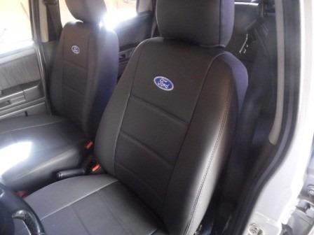 capa automotiva de couro courvin para ford fiesta