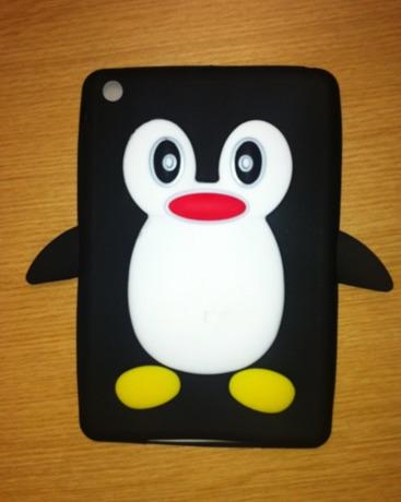 capa back cover para mini ipad pinguim