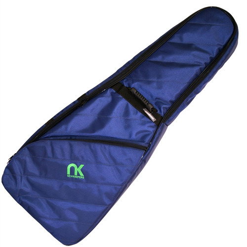 capa bag guitarra maxipro azul super proteção newkeepers
