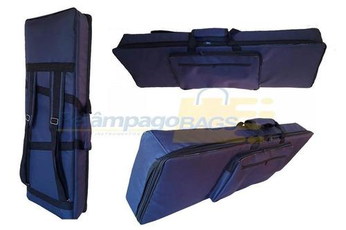 capa bag teclado master luxo m-audio code 61 (marinho)