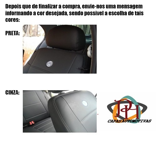 capa banco carro couro courvin do gol g4 2008 com logo vw