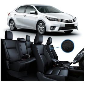 Capa Banco Couro Ecológico Preto Toyota Corolla 2015 A 2019