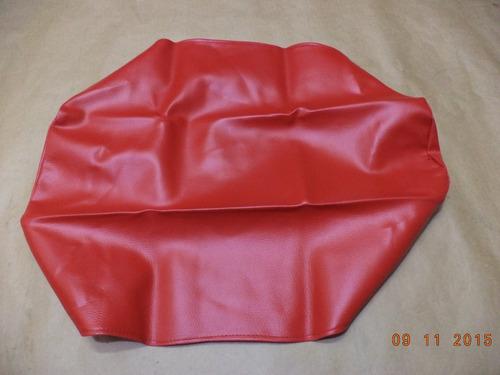 capa banco honda xlx 250 1991 vermelha - sem escrita