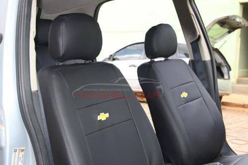 capa bancos de couro automotivos p/ corsa hatch maxx 2009