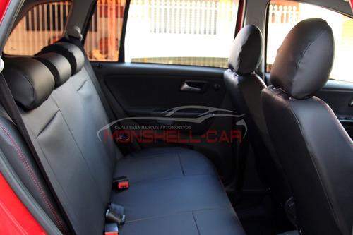 capa bancos de couro automotivos p/ fox comfortline 2016