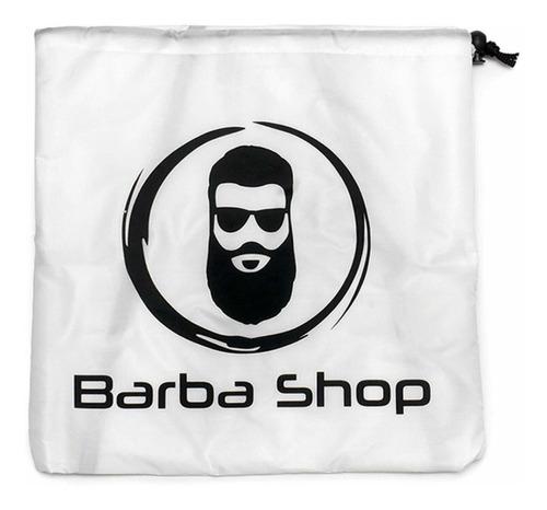 capa barbera afeitar recoge pelos barba beard pro blanca