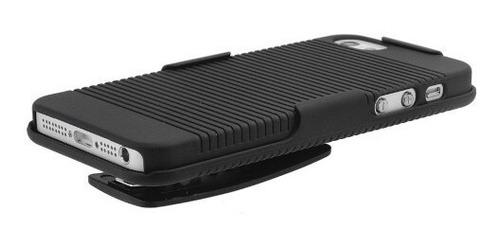 capa belt clip iphone 5s 5 se suporte duplo case + película