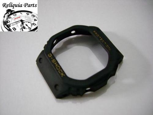 capa bezel g-shock dw-5600 dw-5200 antigo especial s. ouro