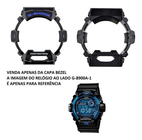 capa bezel original relógio casio g-shock g-8900 brilhante